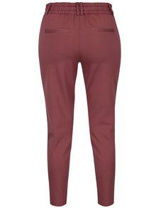 Tmavoružové nohavice ONLY Poptrash