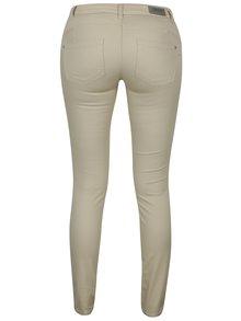 Béžové push up skinny džíny s nízkým pasem ONLY Lucia