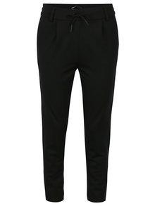 Čierne nohavice s pružným pásom ONLY Poptrash