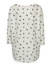 Bluza oversized crem cu print randunele - ONLY Elcos