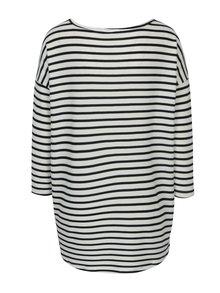 Bluza asimetrica cu dungi crem & bleumarin - ONLY Elcos
