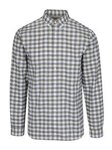 Krémová kockovaná regular fit košeľa Selected Homme Two Sid