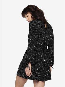 Čierne vzorované šaty s dlhým rukávom Miss Selfridge