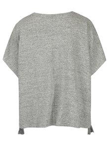 Světle šedý žíhaný svetr Ulla Popken