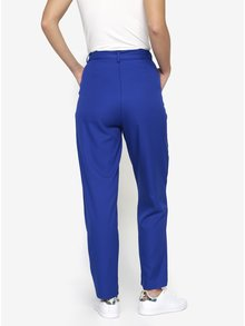 Modré kalhoty se zavazováním v pase MISSGUIDED