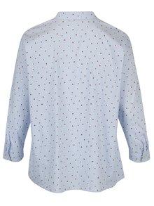 Modrá vzorovaná košeľa Ulla Popken