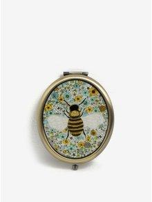 Kompaktné zrkadlo v medenej farbe Sass & Belle Summer Floral