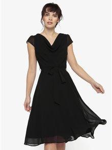 Černé šaty se zavazováním v pase Billie & Blossom