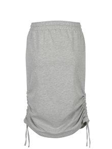 Světle šedá žíhaná sukně s řasením Noisy May Marais