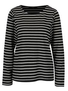 Čierne pruhované tričko s dlhým rukávom VERO MODA Nira