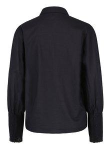 Tmavomodrá košeľa s čipkou na rukávoch VERO MODA Nessa