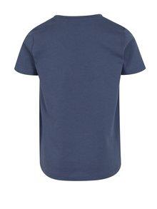 Modro-krémové chlapčenské tričko s potlačou name it Janko