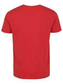 Červené tričko s potiskem Jack & Jones New Raffa