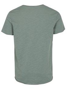 Svetlozelené tričko Jack & Jones Bas