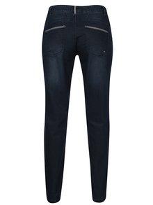 Tmavě modré třpytivé regular fit džíny Gina Laura