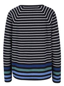 Bílo-modrý pruhovaný krátký svetr Gina Laura