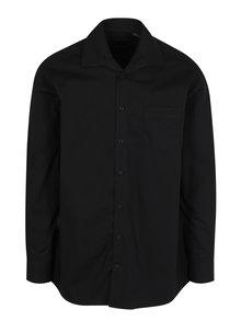 Čierna comfort fit košeľa s dlhým rukávom JP 1880