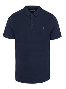Tricou polo bleumarin cu logo brodat - Farah Pendelton