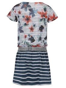 Bílo-modré holčičí pruhované šaty Bóboli