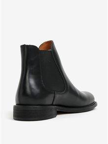 Čierne kožené chelsea topánky Selected Homme Baxter
