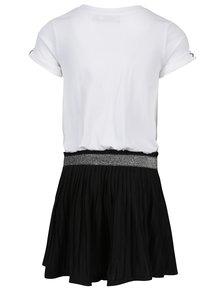 Čierno-biele dievčenské šaty s potlačou Bóboli