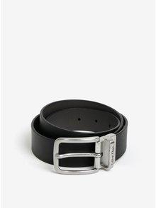 Černý pánský kožený pásek Calvin Klein Mino