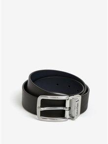 Tmavě hnědý pánský kožený pásek Calvin Klein Mino