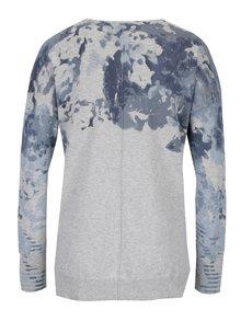 Svetlosivý tenký vzorovaný sveter Yest