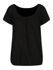 Čierne tričko s okrúhlym výstrihom Yest