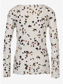 Krémové dámské vzorované tričko s ozdobným uzlem Pietro Filipi