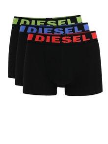 Súprava troch boxeriek v čiernej farbe Diesel