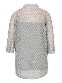 Svetlosivá čipkovaná košeľa s tielkom Yest