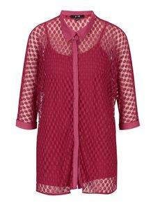 Ružová čipkovaná košeľa s tielkom Yest