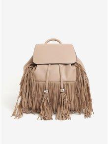 Béžový batoh so strapcami Miss Selfridge