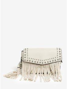Krémová crossbody kabelka s třásněmi Miss Selfridge