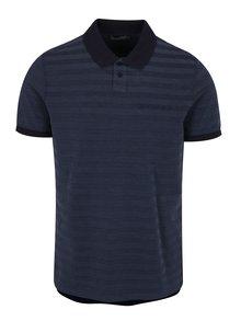Tmavě modré pánské pruhované polo tričko Calvin Klein Pallas