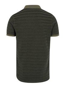Khaki pánské polo tričko Calvin Klein Pallas