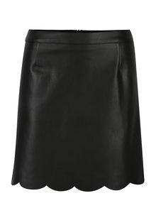 Čierna koženková sukňa Miss Selfridge
