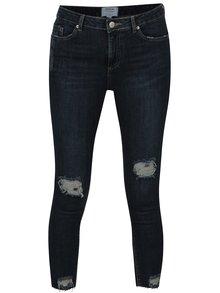 Tmavě modré super skinny džíny s potrhaným efektem Miss Selfridge Petites