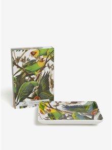 Suport multifunctional din portelan cu print papagali - Magpie Parrot