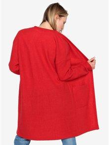 Červený vlněný kardigan Selected Femme Darla