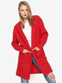 Cardigan lung rosu din lana Selected Femme Darla