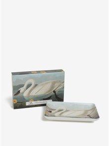 Krémová porcelánová miska s labuťou Magpie Swan