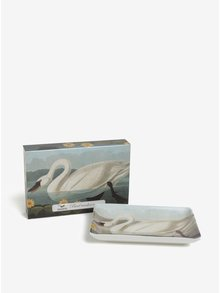 Suport multifunctional din portelan cu print lebada - Magpie Swan