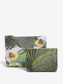 Sada dvou kosmetických taštiček s motivem papoušků Magpie Parrot