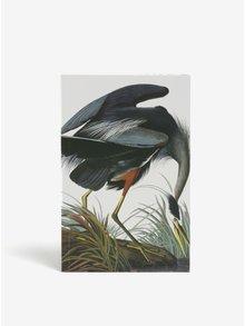 Carnet alb format A5 cu print - Magpie Heron