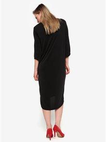 Černé volné šaty s řasením na boku Selected Femme Nola