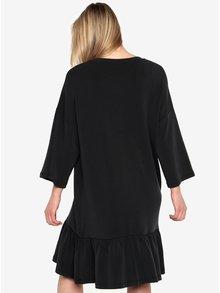 Černé oversize šaty s volánem Selected Femme Liva