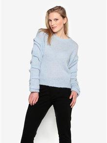 Svetlomodrý sveter s prímesou vlny z alpaky Selected Femme Olivia