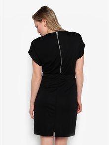 Černé šaty s krátkým rukávem Selected Femme Mella